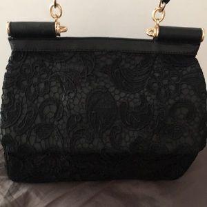 Shoedazzle Canelo lace satchel
